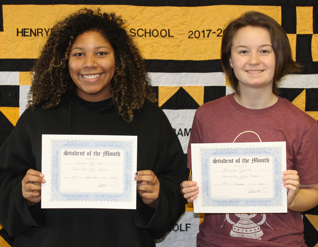 dec students of month